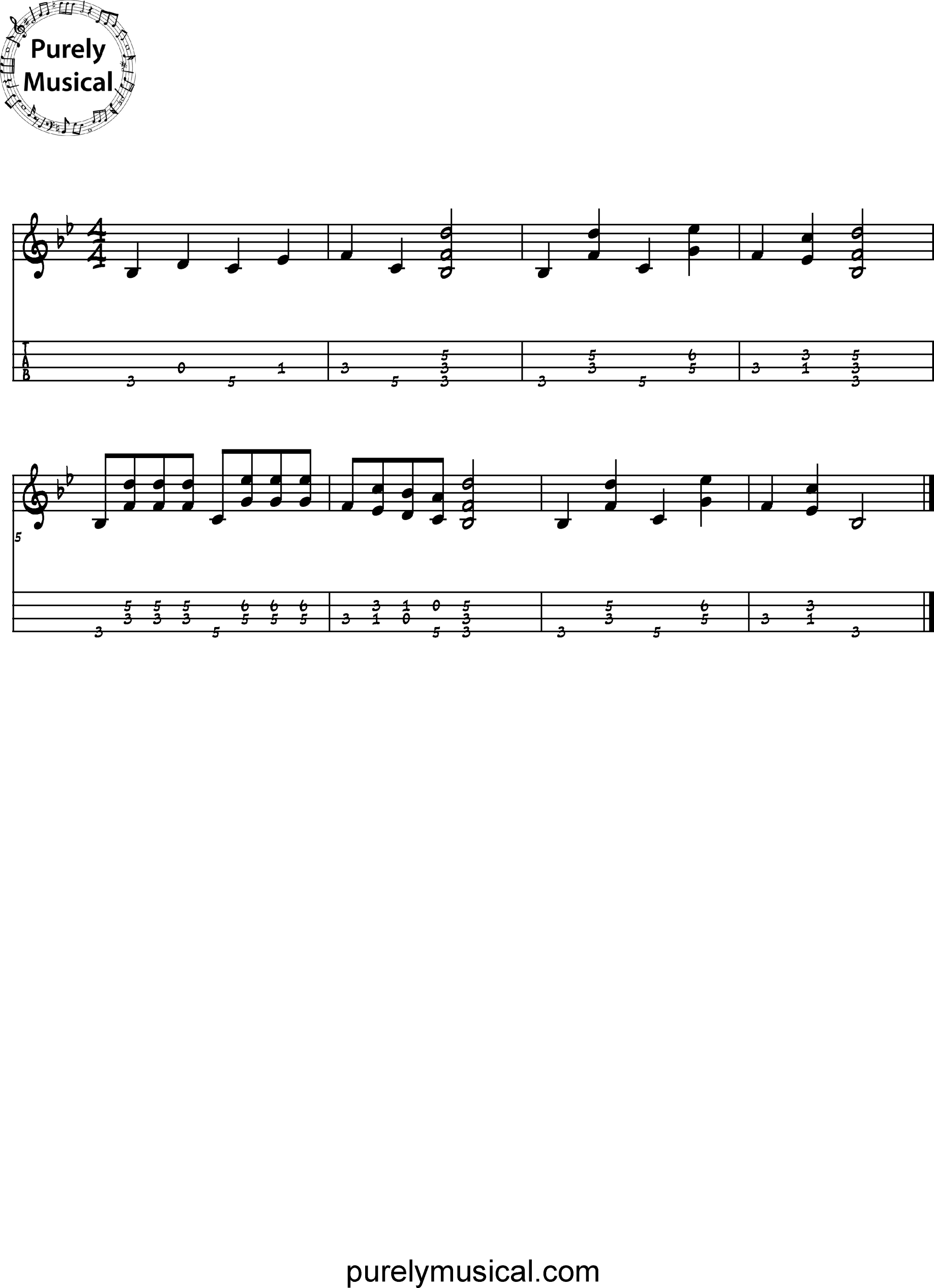 Advanced Standard Rhythmic Accompaniment Bb Major